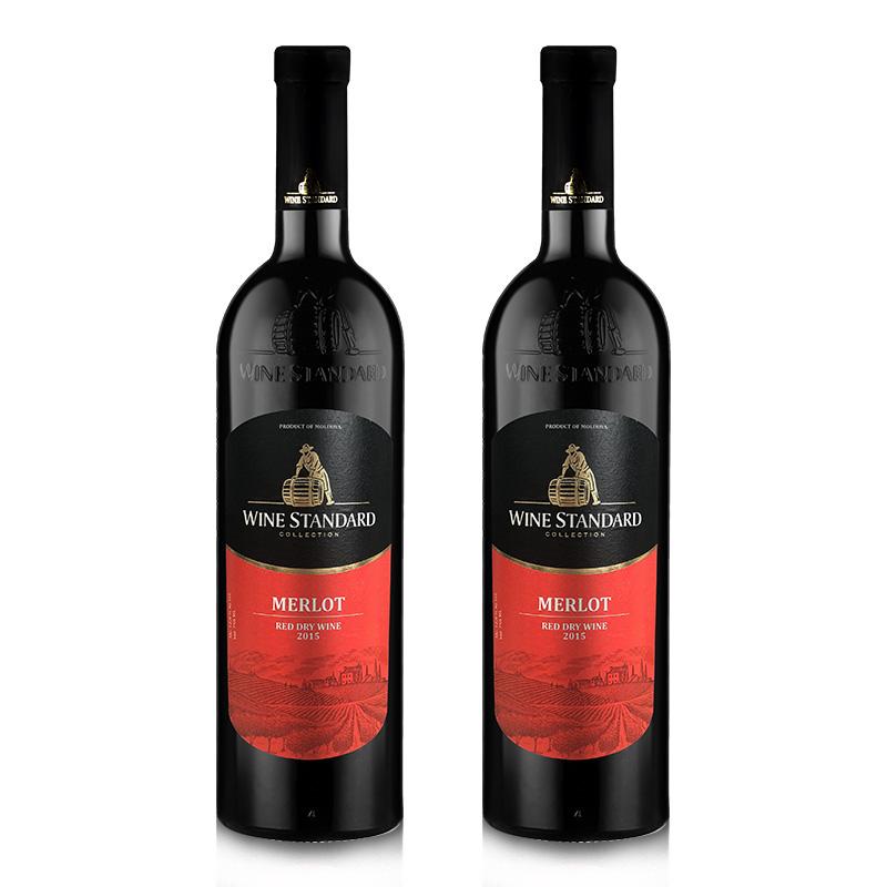 乌标美乐干红葡萄酒*2瓶