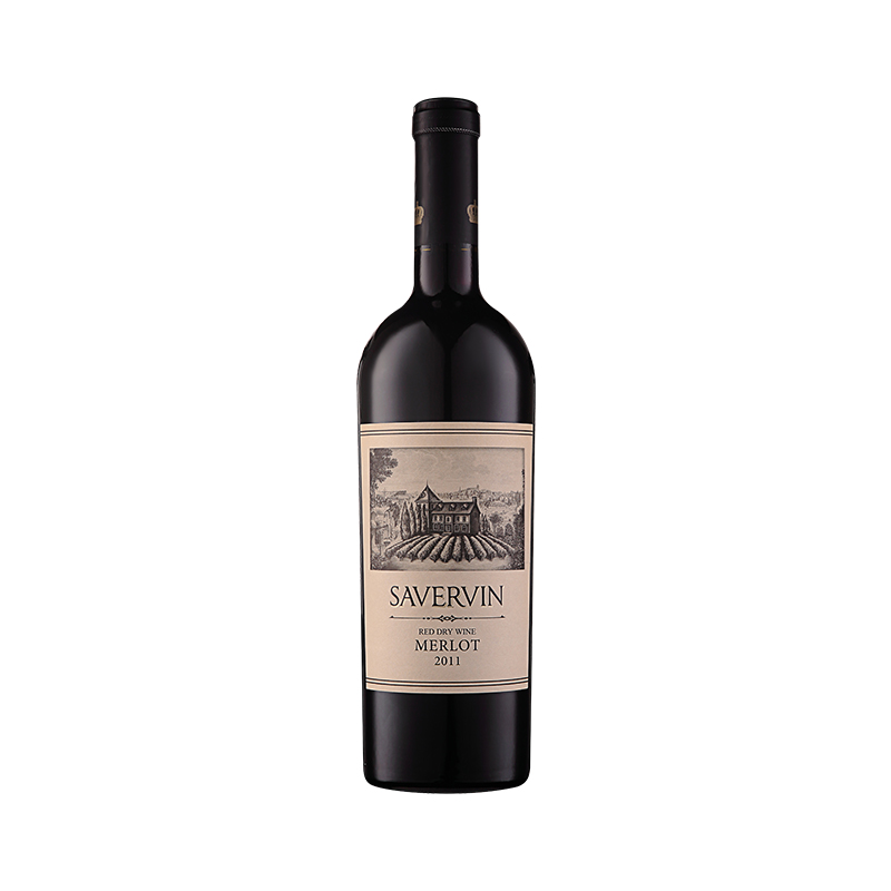 萨维雯系列2011年梅洛干红葡萄酒*2瓶