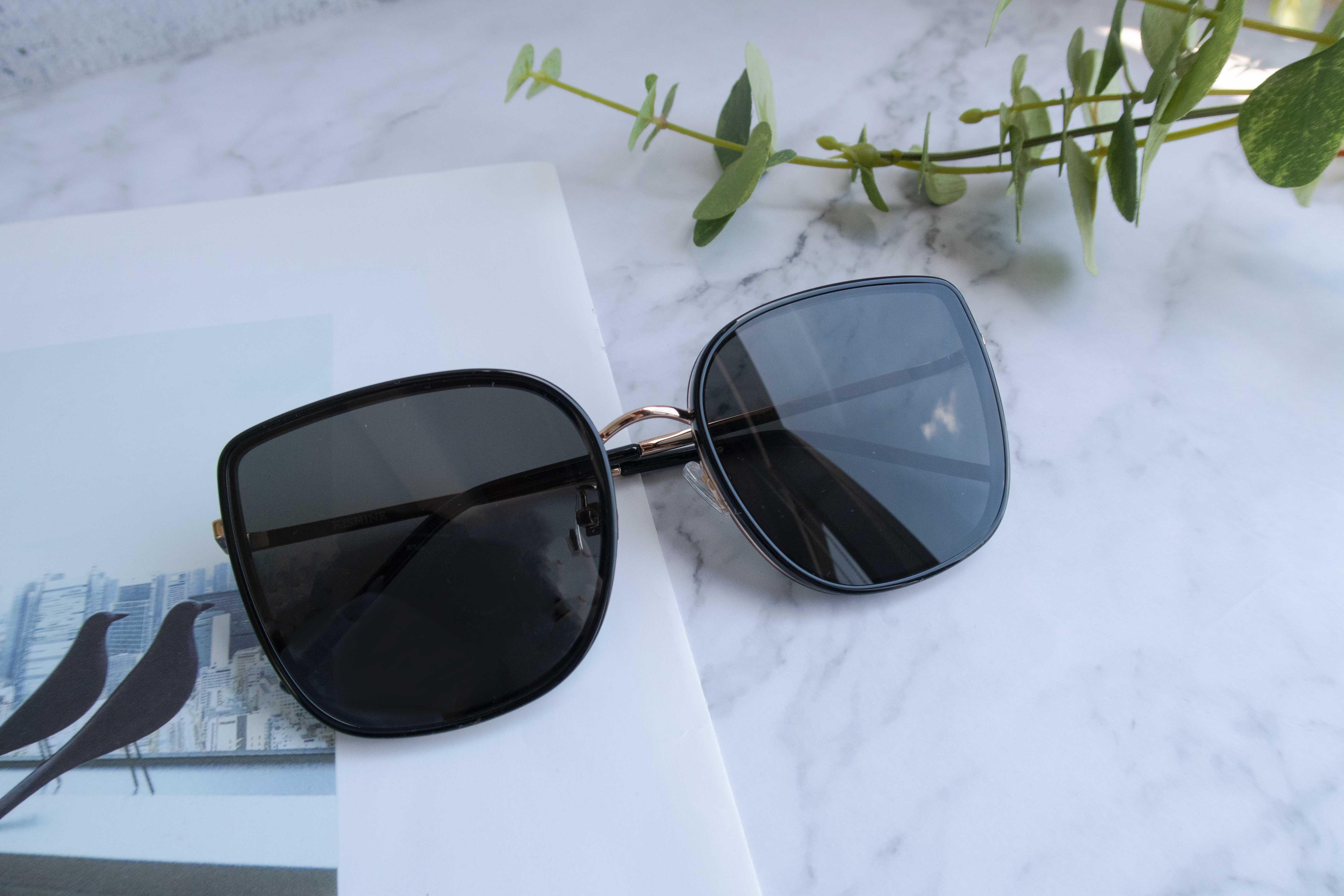 KISHINE黑框金属混色墨镜(XY-2001-C1)