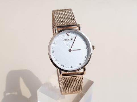 KISHINE-INS玫瑰金编织款手表