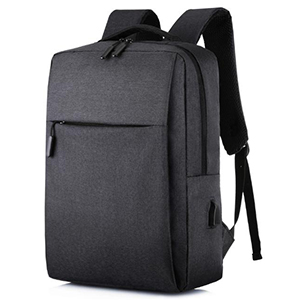 Maki zaza极简主义USB休闲双肩包 MKZ-B003黑色