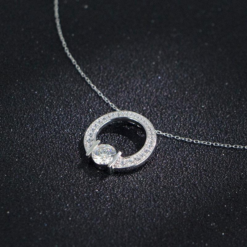 ELLE莫桑石项链3076010MS