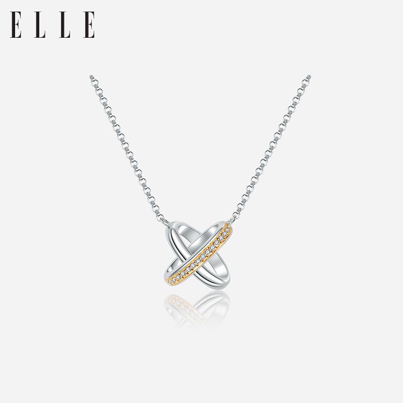 ELLE交织浪漫系列组合项链3082102耳钉8082102